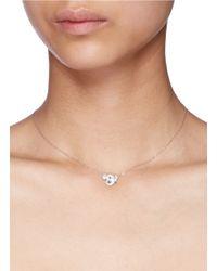 Bao Bao Wan - Gray 'little Elephant' 18k Gold Diamond Necklace - Lyst