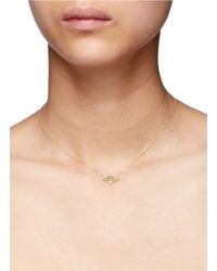 Bao Bao Wan | Metallic 'little Fan' 18k Gold Diamond Pearl Necklace | Lyst