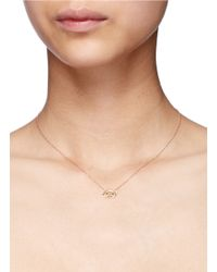 Bao Bao Wan | Metallic 'little Pig' 18k Gold Diamond Necklace | Lyst