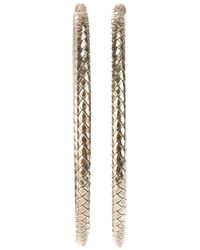 Bottega Veneta - Gray Intrecciato Effect Earrings - Lyst