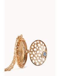 Forever 21 | Multicolor Heirloom Floral Locket Necklace | Lyst