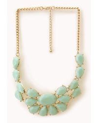 Forever 21 | Blue Bejeweled Bib Necklace | Lyst