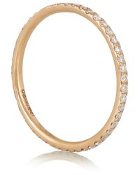 Ileana Makri - Metallic 18karat Rose Gold Diamond Eternity Thread Ring - Lyst