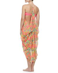 Mara Hoffman - Pink Gathered Sleeveless Cocoon Coverup - Lyst