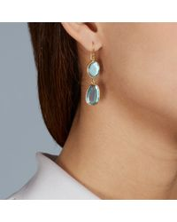Pippa Small | Yellow Double Drop Labradorite Earrings | Lyst