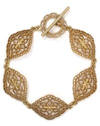 Ralph Lauren - Metallic Lauren Lovely Lace Bracelet - Lyst