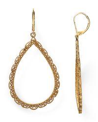 Lauren by Ralph Lauren - Metallic Gold-Tone Crystal Diamond-Shaped Hoop Earrings - Lyst