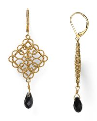Ralph Lauren - Black Lauren Lovely Lace Drop Earrings - Lyst