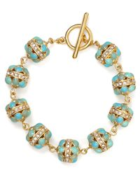 Ralph Lauren | Blue Lauren Half Moon Bracelet | Lyst