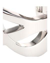 Saint Laurent - Metallic Monogram Cuff - Lyst