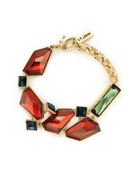 St. John - Brown Faceted Swarovski Crystal Bracelet - Lyst