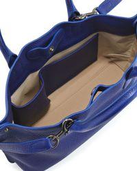 Akris   Blue Ai Cervo Extrasmall Messenger Bag Ocean   Lyst