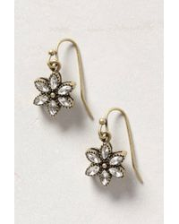 Anthropologie | Metallic Ear Ice Flower Drop | Lyst