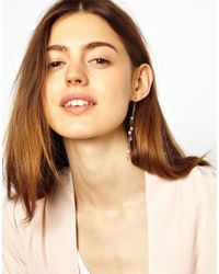 ASOS - Metallic Limited Edition Pearl Strand Earrings - Lyst