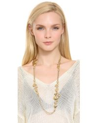 Aurelie Bidermann | Metallic Nympheas Leaves Necklace | Lyst