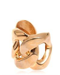 Balmain | Metallic Gold Plated Cuff Bracelet | Lyst