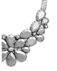 BaubleBar - Metallic Graphite Bloom Bib - Lyst