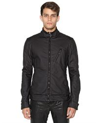 Belstaff | Black H Racer Zip Rubberized Jersey Jacket for Men | Lyst