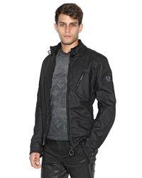 Belstaff - Black H Racer Zip Rubberized Jersey Jacket for Men - Lyst