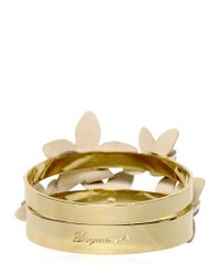 DSquared² - Metallic Set Of Two Brass Bangle Bracelets - Lyst