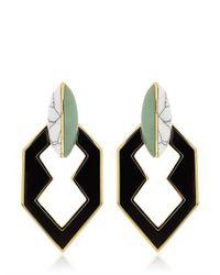 Eddie Borgo - Green Peaked Link Earrings - Lyst