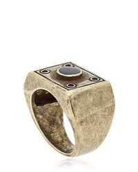 Eddie Borgo - Metallic Box Ring for Men - Lyst