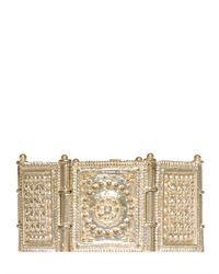 Etro - Metallic Indian Ornament Bracelet - Lyst