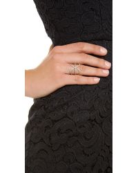 Jacquie Aiche - Metallic Crossover X Eternity Ring - Lyst