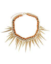 Kasturjewels - Metallic Statement Spike Necklace - Lyst