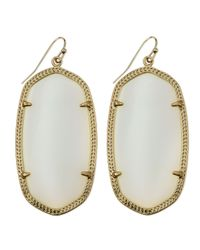 Kendra Scott | Metallic Deily Mother-Of-Pearl Statement Earrings | Lyst