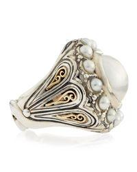 Konstantino - Metallic Circle Pearl Ring - Lyst