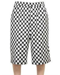 Kris Van Assche - Black Polka Dot Woolviscose Blend Shorts for Men - Lyst