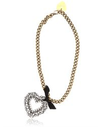 Lanvin | Metallic Mira Gold-Tone Crystal Necklace | Lyst