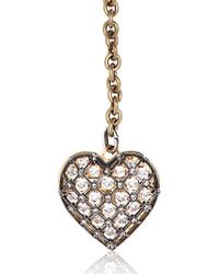 Lanvin - Metallic Swarovski Heart Shaped Pendant Necklace - Lyst
