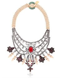 Mawi | Metallic Deco Glam Triangle Necklace | Lyst