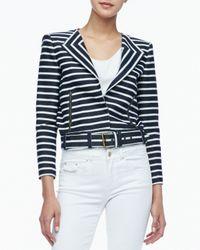 Rachel Zoe - Blue Brando Cropped Belted Jacket - Lyst