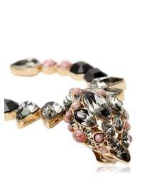 Roberto Cavalli - Pink Swarovski and Brass Earrings - Lyst