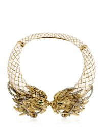 Roberto Cavalli | White Swarovski Dragon Necklace | Lyst