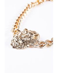 Urban Outfitters - Metallic Lion Head Chain Necklace - Lyst