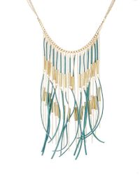 ASOS | Blue Limited Edition Fringe Necklace | Lyst