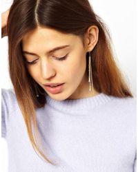 ASOS - Metallic Limited Edition Mini Tassel Earrings - Lyst