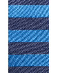 Burberry - Blue Horizontal Stripe Silk Tie for Men - Lyst