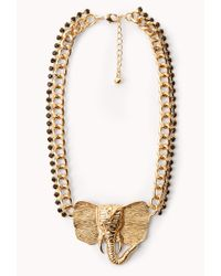 Forever 21 | Metallic Standout Elephant Necklace | Lyst