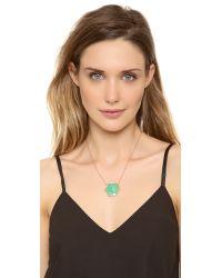 Jacquie Aiche - Green Pave Large Hexagon Bezel Necklace - Lyst