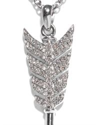 Jade Jagger - Metallic Diamond Silver Arrow Necklace - Lyst