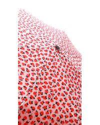 kate spade new york - Pink Rose Travel Umbrella - Lyst