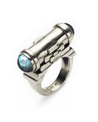 Pamela Love | Metallic Exclusive Tunnel Ring With Labradorite | Lyst