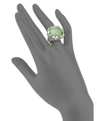 Stephen Webster | Green Cats Eye Clear Quartz Sterling Silver Ring | Lyst