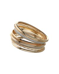 TOPSHOP - Metallic Glitter Bangle Pack - Lyst
