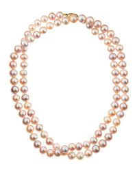 Belpearl | Metallic Freshwater Pink Long Pearl Necklace | Lyst